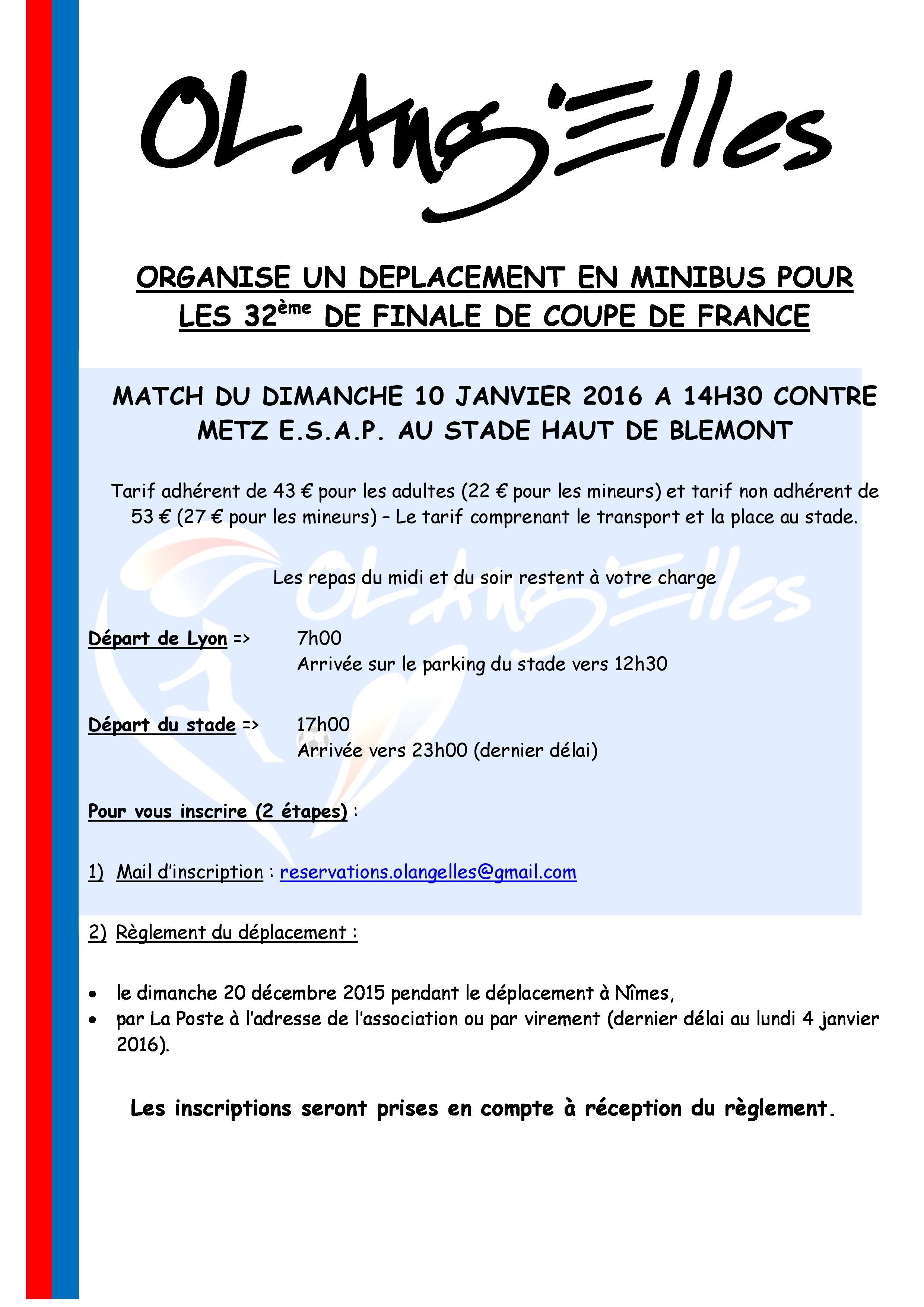 Esap metz en 32 me de finale de coupe de france ol ang 39 elles - Places finale coupe de france ...